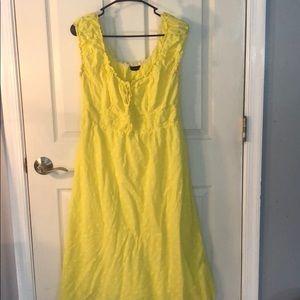 Sunny yellow maxi dress